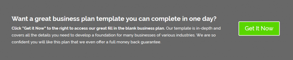 1 Day Business Plan Template